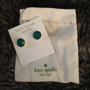 Kate Spade post earring teal color